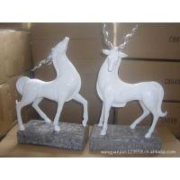 现代简欧树脂工艺品酒店样板房家具软装饰品家居动物摆件对鹿摆设