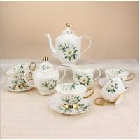 奥美瓷业15头釉上彩骨瓷咖啡具套装 陶瓷咖啡杯碟英式下午茶具套装 商务礼品定制