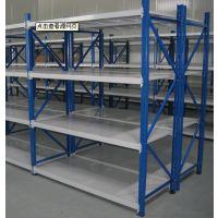 济南德嘉批发横梁式轻型 中型货架价格承载高层板仓储货架