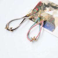 2013新款韩国代购饰品批发代理B0351复古甜美个性皮革编织细手链