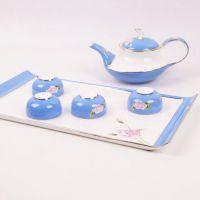 唐山纯手绘骨瓷茶具 纯手工镶金茶具 纯手工拍蓝茶具 厂家直销 提供私人定做骨瓷制品