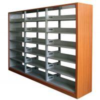 双柱双面书架,钢制书架,图书馆书架,山西书架