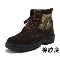 劳保鞋冬季安全鞋防砸安全鞋电焊工作防护鞋厂家直销牛皮劳保棉鞋