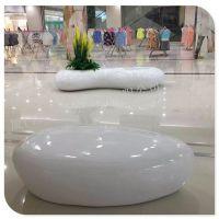 玻璃钢休息凳 商场会所商场休息椅 椅子花盆组合 玻璃钢道具厂