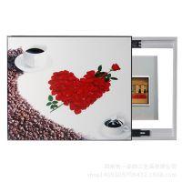 厂家直供电表箱装饰画单幅冰晶无框画挂画配电箱遮挡画D872