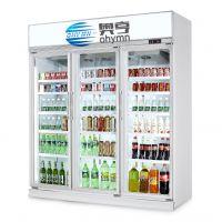 便利店三门冷藏展示柜,超市三门冷藏柜,士多店三门冷柜,进口商品店冷柜,饮料冷藏柜,奥亨制冷