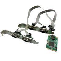 mini pcie多串口卡 多口RS232转mini pcie转接卡 DB9扩展卡