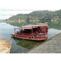 供应单篷船画舫船贡多拉景观船欧式木船乌篷船装饰休闲观光船餐饮木船