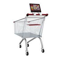 诚行天下品牌直销12.1寸超市商场手推车高清液晶移动广告机