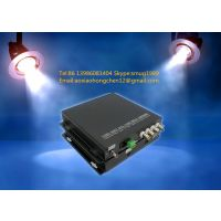 4 HDTVI video 1 RS485 1 ethernet to fiber converter for CCTV surveillance system