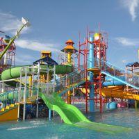 广州蓝潮供应水上乐园设备儿童水屋主题水寨大型欢乐水屋 喷水游艺设施
