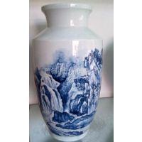 供应景德镇瓷器陶瓷瓷柱大小花瓶器皿定制定做加工手工画陶瓷花瓶厂家供应图片画面价格