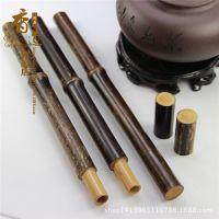 精致天然紫竹长款纯素线香筒香管香道用具竹木工艺品礼品厂家批发
