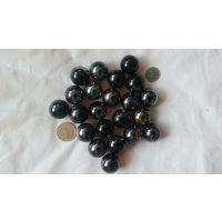 48斤25mm纯色花瓣 透明玻璃球 动物滚滚球 蓝色弹珠 琥珀玻璃球