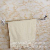 浴室五金挂件厂家供应单杆 扁脚毛巾杆 亮光毛巾架 卫浴置物架