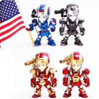 复仇者联盟钢铁侠3Q版Iron Man Mark声控发光4款公仔摆件手办模型