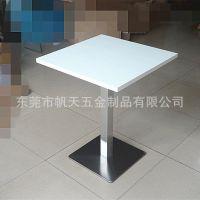 广东工厂直销甜品奶茶店简约现代白色方形餐桌 定做个体餐厅餐桌