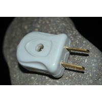 转动两极电源插头 转动二插头转换插三角插座  纯铜足功率插头