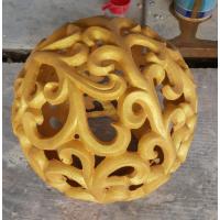 供应园林景观雕塑小品仿砂岩镂空球装饰灯罩