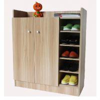 宜家简约三列鞋柜 简易大容量多层置物柜多功能柜