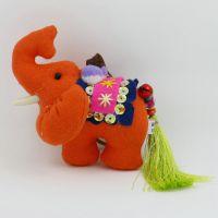 民族特色挂件 卡通动物 纯手工缝制泰国流苏布艺大象钥匙扣