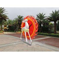 港粤K 3米高玻璃钢抽象鹿雕塑园林景观雕塑摆设工品