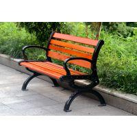 HS-02X 海硕实木桌椅 户外休闲椅 实木靠背椅 公园椅小区防腐木椅
