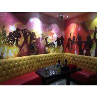 KTV音乐主题壁纸批发 酒吧包厢装饰3D墙纸 舞动音乐3D壁画生产