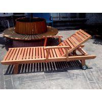 菠萝格木躺椅,海南沙滩椅,三亚泳池躺椅,厂家特卖