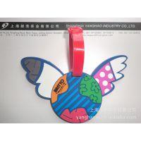专业生产pvc滴塑环保软胶卡通行李牌