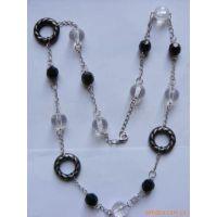 透明亚克力项链 时尚塑料项链 长款仿珍珠项链 服装配饰项链