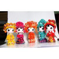 云南手工少数民族娃娃摆件木偶 木质卡通民族娃娃(中号)厂家批发