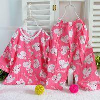 夏季童装 童家居服 人造棉童装 棉绸空调服 对襟儿童裤套装5029