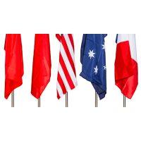 西安空白旗无字旗彩旗广告宣传旗四方形旗道路旗方旗帜可定制文字 红色10条1包