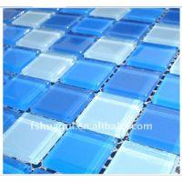 【华硅】2.5公分宽蓝色海口度假区水池水晶玻璃马赛克 房产小区景观园林泳池装修