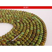 凤经纬 纯天然西藏老矿优化高瓷绿松石半成品隔珠DIY饰品配件批发