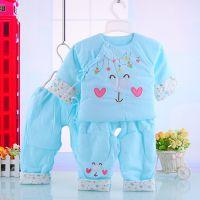 秋冬装保暖初生婴儿衣服宝宝棉衣套装纯棉新生儿棉袄儿童棉服5306