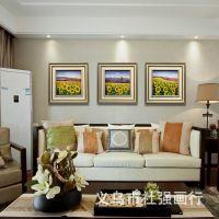 厂家批发定制 家居酒店餐厅 手绘油画 田园风景向日葵系列装饰画