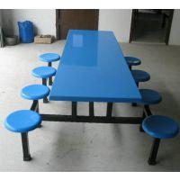 佛山八人位玻璃钢连体圆凳椅 餐桌椅 饭堂椅 性能介绍