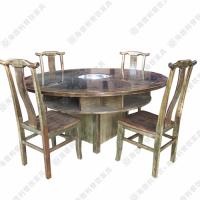 4人位火锅桌 单人单锅实木火锅餐桌 火锅餐桌椅