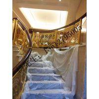 酒店楼梯装修护栏溢升艺术铝板雕刻护栏定做