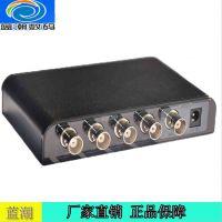 SDI1分4出分配器 SDI一分四分屏器支持3G/HD/SD-SDI信号 朗强