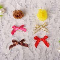现货直销毛衣礼品包装配饰 手工二分带金边手绕蝴蝶结免费拿样