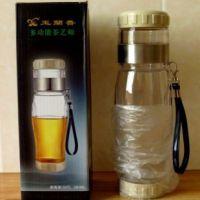 多功能泡茶杯 茶艺师 旅行水杯 塑料带滤网茶杯 可控浓度