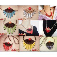 青花瓷毛衣链 手工精编颈链 各种颜色可以选 时尚大方
