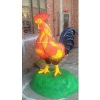 供应产品【玻璃钢大公鸡雕塑 】深圳玻璃钢动物雕塑厂家批发