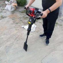 启航牌大铲头式汽油起树机 便携式汽油起树机 手提汽油挖树机