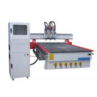 数控木工下料机全自动开料机厂家铭龙1325三工序移门雕刻机