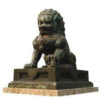 铜门狮厂家、天津铜门狮、博创雕塑