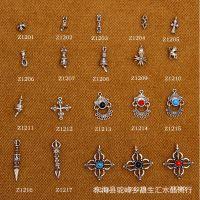 DIY饰品藏银配件 金刚杵法器藏银配件 异域佛珠配饰 多款可选